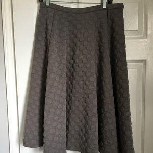 Textured midi full skirt